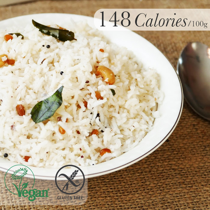 Calories in 100g cooked rice basmati