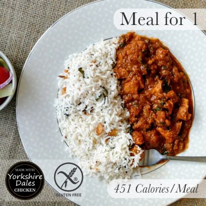 Village Chicken Curry with Coconut & Cashew Rice