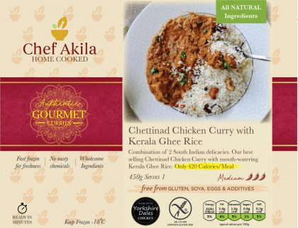 Chettinad Chicken Curry with Kerala Ghee Rice